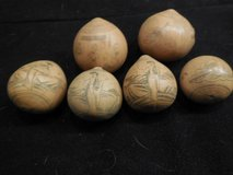 VINTAGE ORIENTAL ETCHED SCRIMSHAW ON MINATURE GOURD in Conroe, Texas