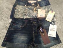 3 pair of new girls size 8 jean shorts in Fort Lewis, Washington