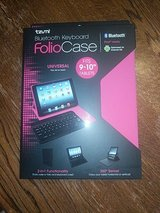 "Tzumi iPad, Galaxy, Fire HD, Nook Tablet Case with Bluetooth Keyboard.  Fits 9"" & 10"" tablets. in Travis AFB, California"