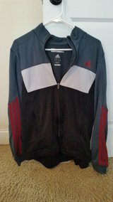 Men's Adidas Marathon '10 Jacket Climalite Size M Black/Grey in Fort Gordon, Georgia