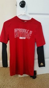 """Men's Adidas Techfit """"Impossible Is Nothing"""" Longsleeve Red/Black Size L in Fort Gordon, Georgia"""