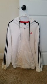 Adidas Men's Hooded Jacket White Size L in Fort Gordon, Georgia