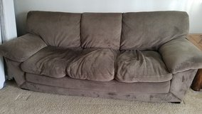 Act fast! Microfiber Couch (Free) and chair (offer) in Tacoma, Washington