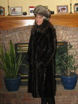 Mink coat with matching hat excellent shape $410 OBO in Stuttgart, GE