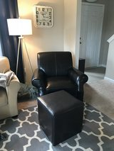 Dark Brown Leather Chair in Bolling AFB, DC