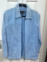 Women's Blue Suede Leather Jacket in The Woodlands, Texas