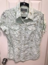 Women's Western Pearl Snap Blouse Top in The Woodlands, Texas