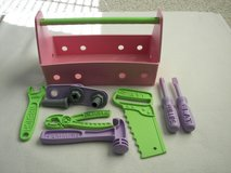 Little Girl's Pink Plastic Toolbox by green toys - Used - In Excellent Conditon in Joliet, Illinois