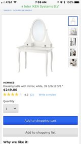 Vanity dressing table. Great condition. Paid $249 originally. Have two to sell. in Lockport, Illinois