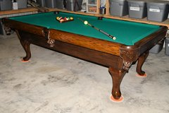 8ft Solid Oak Pool Table in Kingwood, Texas