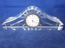 WATERFORD CRYSTAL Desk Clock ~ EXCELLENT in GIFT BOX in Plainfield, Illinois