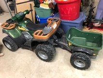 Power Wheels 4 wheeler with trailer in Plainfield, Illinois
