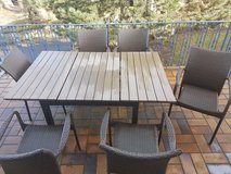 Patio Set With 6 Chair's in Ramstein, Germany