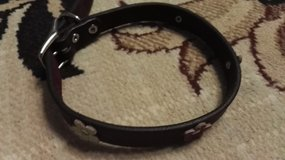 Dog collar XL/XXL, real leather. in Ramstein, Germany