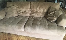 Brown Microfiber Couch in Leesville, Louisiana
