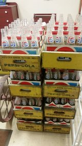 Vintage Pepsi Crates with bottles in St. Charles, Illinois