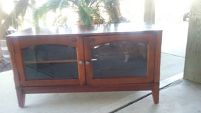Nice TV Cabinet with Glass Doors in Camp Lejeune, North Carolina