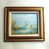 FRAMED COUNTRY LANDSCAPE PAINTING ON CANVAS 13x15 in Glendale Heights, Illinois
