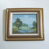 FRAMED MEADOW LANDSCAPE PAINTING ON CANVAS 13x15 in Glendale Heights, Illinois