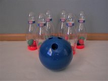 Little Tikes 5 Pin Bowling Game and Bowling Ball - Used - Good Condition in Joliet, Illinois