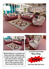 Radison Futon Sleeper Sofa Set Sale! in Spangdahlem, Germany