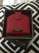 Pabia leather red wallet in Glendale Heights, Illinois