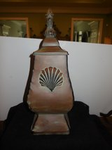 BROYHILL METAL MANTLE CONTAINER WITH SEA SHELL MOTIFF in Conroe, Texas