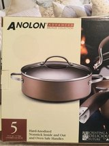 Anolon 5 qt. covered pan in Baytown, Texas