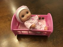Cute Doll with Cradle in Bolingbrook, Illinois