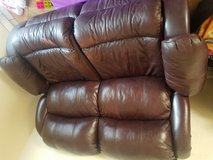Leather reclining couch in Travis AFB, California