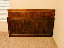 full size oak bed with mattress & box spring in Kingwood, Texas