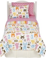 Bow Wow Meow Kitty Cat & Puppy Dog Twin Reversible Comforter Sheet Set Circo in Kingwood, Texas