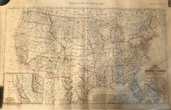 US Map (1856) Reproduction in Fort Belvoir, Virginia