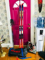 Snow Skis with Poles & Boots in DeKalb, Illinois