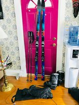 Skis Poles and Boots in DeKalb, Illinois