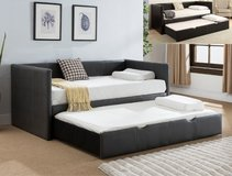 BRAND NEW! QUALITY LEATHER SOFA BED WITH TRUNDLE + MATTRESSES:) in Camp Pendleton, California