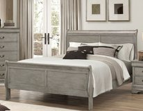 "BRAND NEW! GREY FINISHED "" SOLID WOOD"" URBAN QUEEN BEDFRAME in Vista, California"