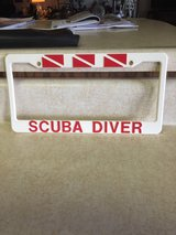 "License Plate ""Scuba Diver"" in Fort Leonard Wood, Missouri"