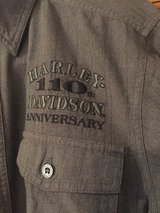 Harley Davidson 110th Anniversary Long Sleeve Button Down Shirt - Size Medium Tall in Naperville, Illinois