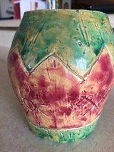 Vase- Indian Motiff - Hand Made in Fort Leonard Wood, Missouri