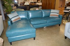 Like New All Leather Downfilled 2 Pc. Sectional in Tacoma, Washington