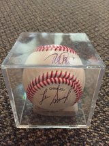 Autographed baseball in Naperville, Illinois