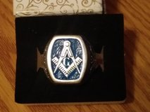 LOWERED PRICE !!!  New MENs MASONIC RING ! BLUE LODGE  STERLING SILVER   SZ 12 in Fort Leonard Wood, Missouri