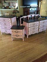 Princess French provincial bedroom set dresser nightstand bed and mirror in Fort Campbell, Kentucky
