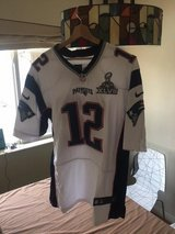 Elite Tom Brady Mens Jersey - New England Patriots Super Bowl XLVII #12 Road White Nike NFL in Bellaire, Texas