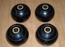 "LAWN BOWLS SET OF 4 ""RINKMASTER"" 5"" in Lakenheath, UK"