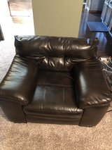 over-sized leather chair in Oswego, Illinois