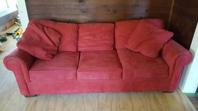 Red Suede Sofa in Fort Polk, Louisiana