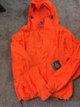 Huntworth bright orange waterproof jacket, men's large, NWT in Westmont, Illinois
