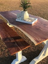 8' Live Edge Cedar Farmhouse Table with Bench in Lake Charles, Louisiana